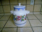 Vintage Cookie Jar  Hand Painted And Signed Unknown Maker