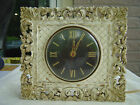 Vintage Estate~Retro Art Deco 1960's~Plaster~INGRAHAM WALL or MANTEL CLOCK~Works
