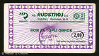 BOSNIA - Food COUPON/BON/VOUCHER - Public enterprise RUDSTROJ - 2.00 DM