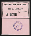 BOSNIA - Food BON/COUPON/VOUCHER - Garment Industry Prnjavor - 3 Deutsch Mark DM