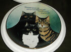 THE DANBURY MINT COLLECTOR PLATE CATTITUDE BY MAREN SCHAFFNER CATS LIMITED ED.