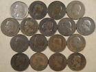 France 17 different Ten Centimes 1852-57 Lower Grades some with issues