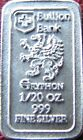 1/20 oz 999 Fine Silver Proof Griffin Bullion Bank Bars Gryphon 99.9% Puro Plata