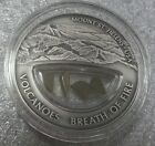 Mount Saint Helens Obsidian gold USA Volcanoes silver coin 10$ dollar Fiji 2013