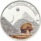 Great Pyramid of Giza Antique 7 Wonders World $5 Silver proof Coin Palau 2013