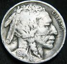 BOLD Date F+ 1919-S BUFFALO NICKEL 5¢! Planchet Flaw! Mintage 7.5 million BM50MN