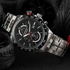 Curren Fashion Black Men's Stainless Steel Date Military Sport Quartz Watch