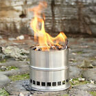Portable Stainless Steel Wood Stove Alcohol Stove Outdoor Picnic BBQ Camping