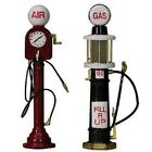 LEMAX VILLAGE VINTAGE MINIATURE AIR PUMP AND VISIBLE GAS FUEL PUMP NIB