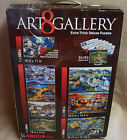 ART GALLERY 8 JIGSAW PUZZLES in 1 BOX - Extra Thick Pieces & Color Coded Backs