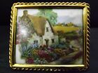 VITANGE GOUMOT LABESSE LIMOGES FRANCE PORCELAIN PLAQUE FRAMED