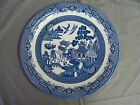 Large Round Churchill Blue Willow Platter, Made In Staffordshire, England