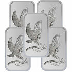 Trademark Bald Eagle 1oz .999 Fine Silver Bars by SilverTowne LOT OF 5 #6324