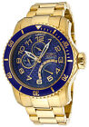 Invicta 15342 Men's Pro Diver Blue Textured Dial 18K Gold Plated Stainless Steel