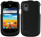 BLACK RUBBERIZED PROTEX HARD CASE COVER FOR AT&T ZTE AVAIL-2 Z992 & PRELUDE Z993