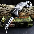 ZOMBIE HUNTER KARAMBIT Folding Pocket KNIFE Spring Assisted Open FINGER HOLE NEW