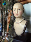 SANTOS Doll Bust/Head on stand; 11.25