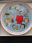 SCHMID**PEANUTS 30TH ANNIVERSAY** COLLECTOR PLATE BY CHARLES SCHULZ*NEW IN BOX*