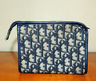 VINTAGE 1970s RARE DESIGNER CHRISTIAN DIOR NAVY LOGO MAKE-UP CASE