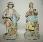 Vintage German Bisque Man & Woman Figurines
