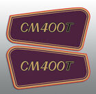 HONDA 1981 CM400T CM400 SIDE COVER DECALS GRAPHICS BURGUNDY COLORATION