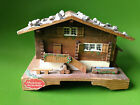 Vintage Swiss Reuge Music Box Chalet Still Bank Savings Wood An der Schonen WORK
