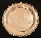 POOLE 5017 EPCA Old English Silver Plate Ornate Etched Floral Design 12