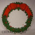 FITZ & FLOYD china HOLLY WREATH pattern Salad/Dessert Plate @ 7 1/2