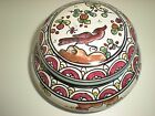 Conimbriga Portugal Pottery Trinket Box Hand Made Hand Painted, Vintage, Signed