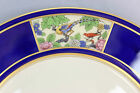 FINE ANTIQUE LENOX CHINA M443 SET 10 DINNER PLATES COBALT GOLD CREAM BIRD PANELS