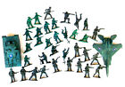 Jet/Tank-34 Army Men Soldiers-Fighters-Set of 36 Greens Color-3+ years