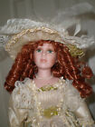 Duck house heirloom dolls Jaimie Victorian Porcelain doll with red curly hair