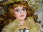 Duck house heirloom dolls Consuela Victorian Porcelain doll with curly hair