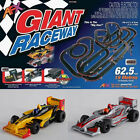 AFX Giant Raceway Electric Ho Slot Car Racing Set Digital Lap Counter Tri Power