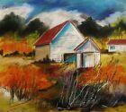 ORIGINAL Barn LANDSCAPE Pastel Painting JMW art John Williams Impressionism