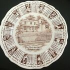Alfred Meakin England 1967 Zodiac Calendar Plate God Bless Our House Brown Sepia