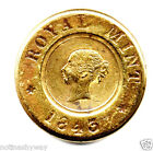 1843 Sovereign Weight Gold Lustre Antique Old RARE Victorian Royal Mint London