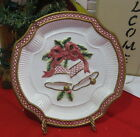 Fitz & Floyd Essentials Christmas Holiday Bells Ceramic Canape Plate