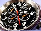 GERMAN MILITARY AIRFORCE COMBAT PILOT CHRONOGRAPH WATCH 24 HOUR LUFTWAFFE CROSS