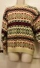 Gap Mens Bill Cosby style sweater 100% cotton long sleeve crew Sz S