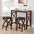 TRIBECCA HOME Zoe Cherry X-based Space Saver 3-piece Counter-height Breakfast Se
