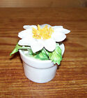 Vintage Radnor DAISY Bone China Hand Painted Applied Flower Figurine 2.25