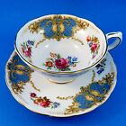 Blue and Bright Florals Grosvenor Tea Cup and Saucer Set
