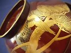Japanese Wooden Gold Lacquer Bowl / Tame-Nuri / Mt.Fuji, Crane (BTF15SP)
