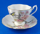 Pretty Birds on a Blossom Tree Queen Anne Tea Cup and Saucer Set