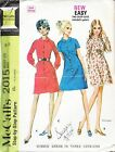 Vintage McCalls 2015 Pattern for Women. Sz.14. 1969. 2 sleeve style. Button frnt