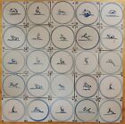 25 ANTIQUE DUTCH DELFT TILES