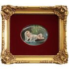 A Berlin KPM Hand Painted Porcelain Plaque of Baby Moses Circa 1900.