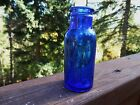 Vintage 4 oz Old Cobalt Blue Bromo Seltzer Bottle Emerson Drug Co Baltimore MD