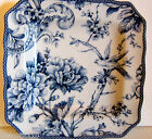 222 FIFTH ADELAIDE BLUE TOILE Fine China SALAD PLATES. SETof 4 GORGEOUS!